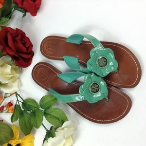 Tory Burch Black Breely Flower Sandals